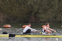 Caversham. Berkshire. UK<br /> Men's pair, David AMBLER and Chris HEYWOOD, competing at the 2016 GBRowing U23 Trials at the GBRowing Training base near Reading, Berkshire.<br /> <br /> Monday  11/04/2016 <br /> <br /> [Mandatory Credit; Peter SPURRIER/Intersport-images]