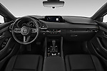 Stock photo of straight dashboard view of 2019 Mazda Mazda-3 - 5 Door Hatchback Dashboard