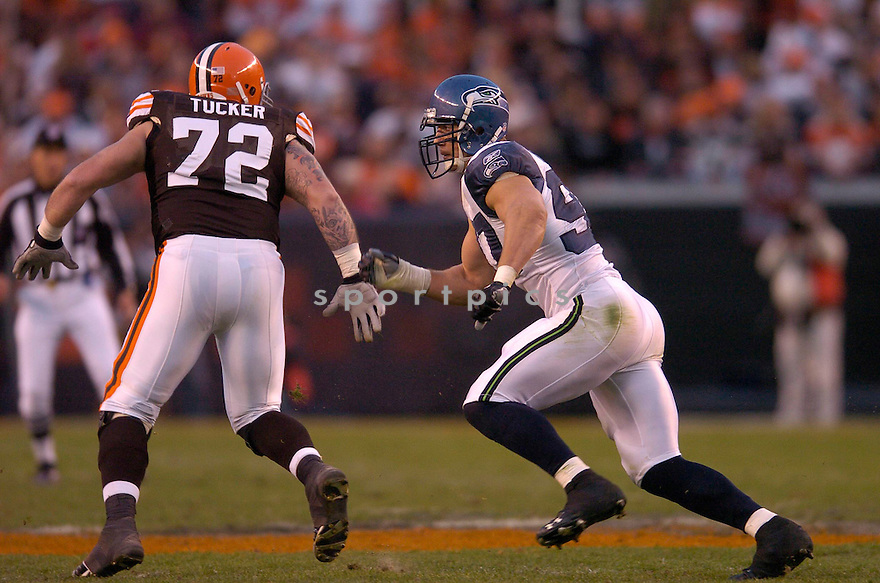 PATRICK KERNEY,  of the Seattle Seahawks , in action during the Seahawks game against the Cleveland Browns game on November 4, 2007 in Cleveland OH...Browns win 33-30..........