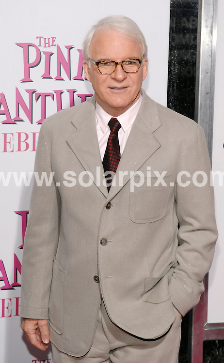 "**ALL ROUND PICTURES FROM SOLARPIX.COM**.**SYNDICATION RIGHTS FOR UK, AUSTRALIA, DENMARK, PORTUGAL, S. AFRICA, SPAIN & DUBAI (U.A.E) ONLY**.arrivals for ""The Pink Panther 2"" New York Premiere. Held at Ziegfeld Theatre, New York City, NY, USA. 3 February 2009..This pic: Steve Martin..JOB REF: 8393 PHZ (Ward)   DATE: 03_02_2009.**MUST CREDIT SOLARPIX.COM OR DOUBLE FEE WILL BE CHARGED* *ONLINE USAGE FEE £50.00 PER PICTURE - NOTIFICATION OF USAGE TO PHOTO@SOLARPIX.COM*"