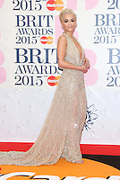 Rita Ora arriving at The Brit Awards 2015 (Brits) held at the O2 - Arrivals, London. 25/02/2015 Picture by: James Smith / Featureflash