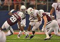 STAFF PHOTO BEN GOFF  @NWABenGoff -- 09/27/14 Arkansas' D.J. Dean returns a punt during the second quarter of the Southwest Classic at AT&T Stadium in Arlington, Texas on Saturday September 27, 2014.