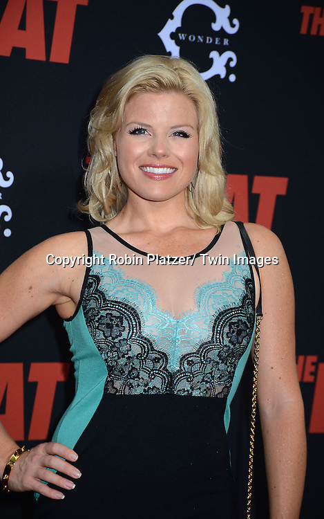 "Megan Hilty attends the New York Premiere of ""The Heat"" on June 23,2013 at the Ziegfeld Theatre in New York City. The movie stars Sandra Bullock, Melissa McCarthy, Demian Bichir, Marlon Wayans, Joey McIntyre, Jessica Chaffin, Jamie Denbo, Nate Corddry, Steve Bannos, Spoken Reasons and Adam Ray."