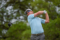 Charley Hoffman (USA) watches his tee shot on 2 during day 4 of the Valero Texas Open, at the TPC San Antonio Oaks Course, San Antonio, Texas, USA. 4/7/2019.<br /> Picture: Golffile | Ken Murray<br /> <br /> <br /> All photo usage must carry mandatory copyright credit (© Golffile | Ken Murray)
