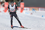 Simone Urbani in action at the sprint qualification of the FIS Cross Country Ski World Cup  in Dobbiaco, Toblach, on January 14, 2017. Credit: Pierre Teyssot