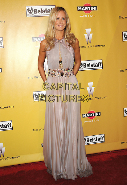 LADY VICTORIA HERVEY.At Weinstein Company Post Golden Globe Party held at Bar210 & Plush Ultra Lounge in Beverly Hills, California, USA. January 17th, 2010                                                                   globes full length beige cream dress sleeveless embellished jewel encrusted maxi.CAP/DVS.©Debbie VanStory/Capital Pictures
