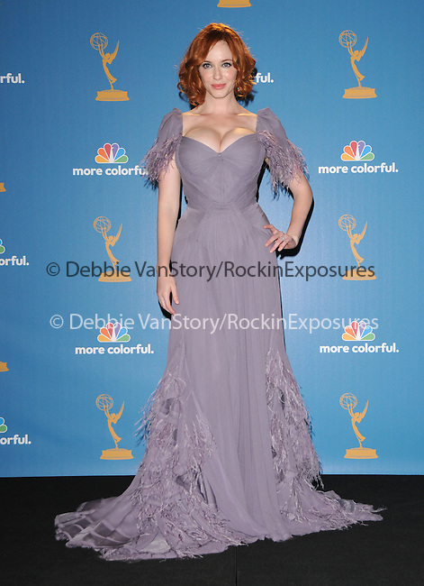Christina Hendricks  at The 62nd Anual Primetime Emmy Awards held at Nokia Theatre L.A. Live in Los Angeles, California on August 29,2010                                                                   Copyright 2010  DVS / RockinExposures