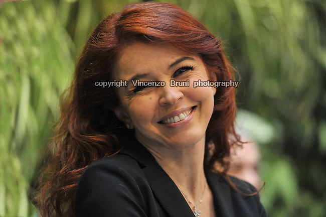 Paola Saluzzi, Italian anchorwoman for the TV channel Sky TG24.