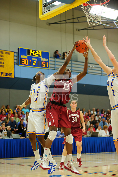 LOS ANGELES, CA - December 31, 2011:  Stanford's Chiney Ogwumike during play against the UCLA Bruins at the Wooden Center.   Stanford defeated UCLA, 77 - 50.