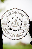 An original glass plate commemorating George VI's coronation in 1937
