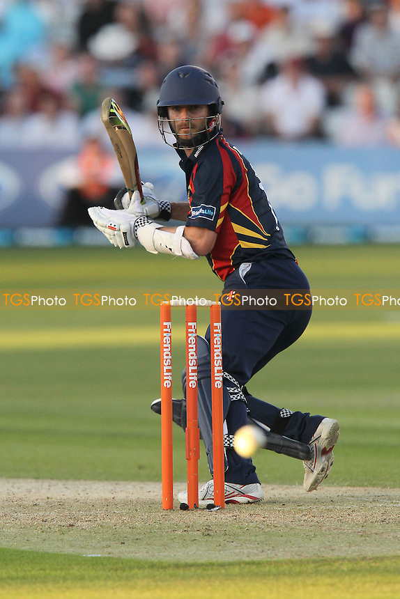 James Foster in batting action for Essex as he reaches a half-century - Essex Eagles vs Sussex Sharks - Friends Life T20 Cricket at the Ford County Ground, Chelmsford, Essex - 28/06/12 - MANDATORY CREDIT: Gavin Ellis/TGSPHOTO - Self billing applies where appropriate - 0845 094 6026 - contact@tgsphoto.co.uk - NO UNPAID USE.