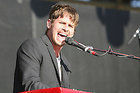05/12/12 Carson, CA : Mark Foster of Foster the People performs during KISS FM's Wango Tango concert held at the Home Depot Center