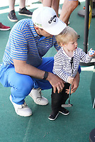 Oliver Wilson (ENG) with his family following Round 3 of the Portugal Masters, Dom Pedro Victoria Golf Course, Vilamoura, Vilamoura, Portugal. 26/10/2019<br /> Picture Andy Crook / Golffile.ie<br /> <br /> All photo usage must carry mandatory copyright credit (© Golffile   Andy Crook)