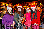 Sara Carroll, Cliodhna Lavery, Lidija Samaskaite and Amy Stack, Presentation Primary School, Listowel  pictured performing at the turning of the Christmas lights in Listowel on Saturday last.