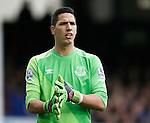 Joel Robles of Everton during the Barclays Premier League match at The Goodison Park Stadium. Photo credit should read: Simon Bellis/Sportimage