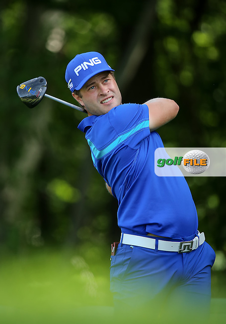 20 June14  Sweden's David Lingmerth during Friday's Second Round at The Travelers Championship at The TPC River Highlands in Cromwell, Connecticut. (photo credit : kenneth e. dennis/kendennisphoto.com)
