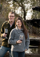 Sam Bilbro and Jessica Boone Bilbro, the husband-and-wife team behind Idlewild WInes, in Healdsburg, Calif., on January 10, 2014. (Alvin Jornada / The Press Democrat)