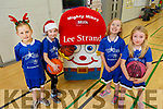 Abby Crowley, Roisin Reidy, Jane O'Callaghan and Bláithín Casey with Mighty Milk at the the Tralee Imperials Christmas Basketball Marathon in Mercy Mounthawk on Saturday.