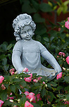 Flower Girl, Garden sculpture, Burbank CA