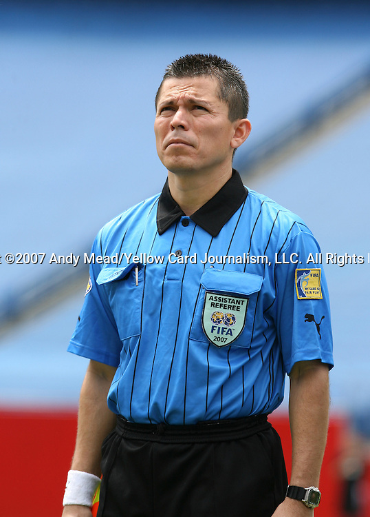 16 June 2007: Assistant Referee Roberto Giron of Honduras. The Canada Men's National team defeated the Guatemala Men's National Team 3-0 at Gillette Stadium in Foxboro, Massachusetts in a 2007 CONCACAF Gold Cup quarterfinal.