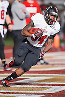 Arkansas State running back Michael Gordon (34) warms up before an NCAA Football game kickoff, Thursday, November 20, 2014 in San Marcos, Tex. Texas State defeated Arkansas State 45-27. (Mo Khursheed/TFV Media via AP Images)