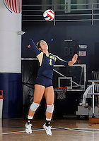 Florida International University women's volleyball player Andrea Lakovic (1) plays against Western Kentucky University.  Western Kentucky won the match 3-0 on September 30, 2011 at Miami, Florida. .