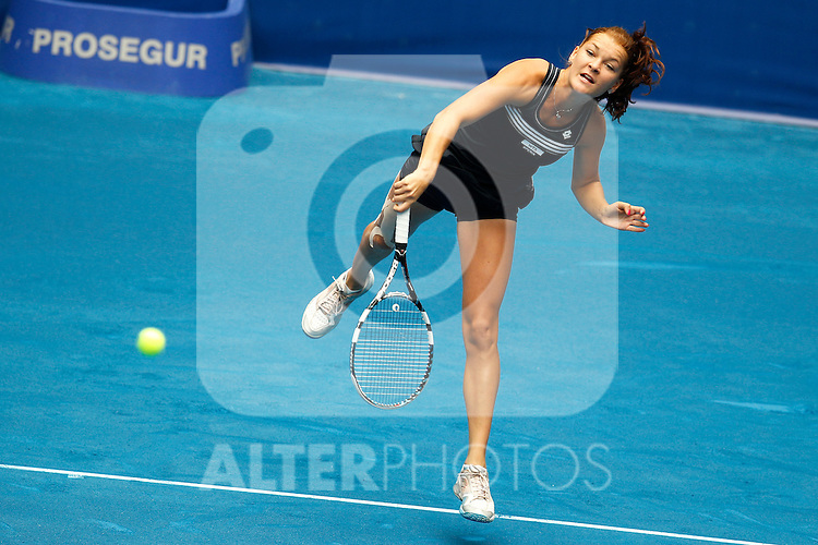 Poland's Agnieszka Radwanska during Mutua Madrid Open 2012 match on may 6th 2012...Photo: Cesar Cebolla / ALFAQUI