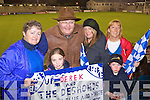 Anne Bergen, Con Bergen, Soirse Murphy, Daire Murphy, Katie Gallagher and Abina O'Sullivan Castleisland Desmonds fans at the Celebrity Bainisteoir final at Parnell park on Friday night.