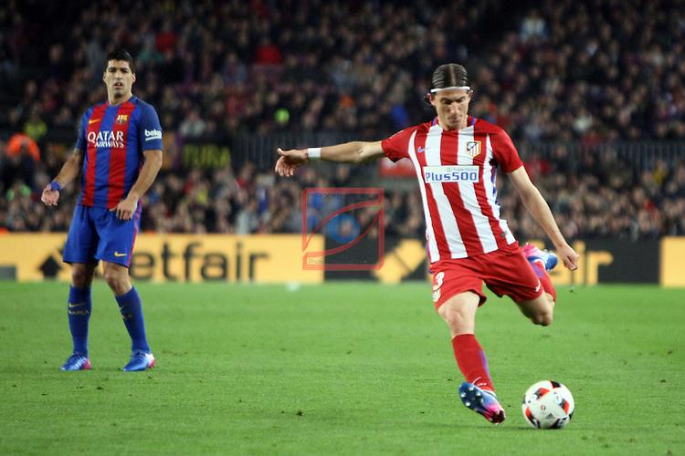 Copa del Rey 2016/2017 - Semifinal vuelta.<br /> FC Barcelona vs Atletico Madrid: 1-1.<br /> Filipe Luis.