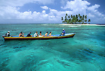 A boat tours through the San Blas Islands in Panama. © Michael Brands. 970-379-1885.