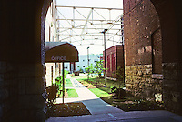 St. Louis: Old Falstaff Brewery, 20th & Madison--walkway. Photo '78.