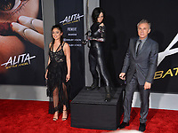 LOS ANGELES, CA. February 05, 2019: Christoph Waltz &amp; Rosa Salazar at the premiere for &quot;Alita: Battle Angel&quot; at the Regency Village Theatre, Westwood.<br /> Picture: Paul Smith/Featureflash