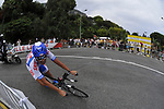 Skil Shimano rider Kenny Robert Van Hummel (NED) rounds the hairpin during the Prologue Stage 1 of the 2009 Tour de France a 15.5km individual time trial held around Monaco. 4th July 2009 (Photo by Eoin Clarke/NEWSFILE)