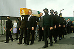 Belfast Ireland 1980s The Troubles. INLA Irish National Liberation Army funeral.