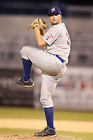 July 10, 2009:  Pitcher Dan McDaniel of the Daytona Cubs during a game at George M. Steinbrenner Field in Tampa, FL.  Daytona is the Florida State League High-A affiliate of the Chicago Cubs.  Photo By Mike Janes/Four Seam Images