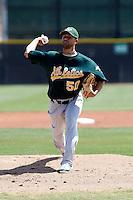 Jason Fernandez - Oakland Athletics - 2009 spring training.Photo by:  Bill Mitchell/Four Seam Images