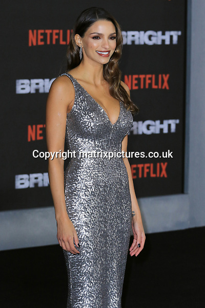 NON EXCLUSIVE PICTURE: MATRIXPICTURES.CO.UK<br /> PLEASE CREDIT ALL USES<br /> <br /> WORLD RIGHTS<br /> <br /> Nadia Gray attending the UK premiere of Netflix's 'Bright', held on London's Southbank.<br /> <br /> DECEMBER 15th 2017<br /> <br /> REF: MES 172875