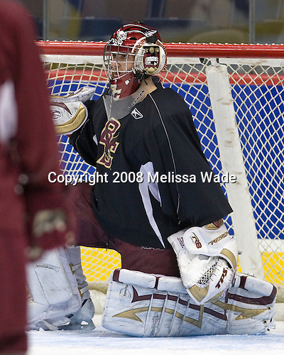 Andrew Margolin (BC 30) - The Boston College Eagles practiced on Friday, April 11, 2008, at the Pepsi Center in Denver, Colorado, in preparation for the 2008 Frozen Four Final (NCAA D1 national hockey championship game) being played the following day.  Boston College had made the Final for the third year in a row.