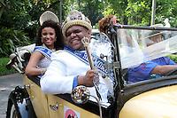RIO DE JANEIRO; RJ; 08 DE FEVEREIRO 2013 - INÍCIO OFICIAL DO CARNAVAL DO RIO DE JANEIRO - O prefeito Eduardo Paes entrega a chave da cidade para a Corte Real do Carnaval - Rei Momo, rainha e princesas - oficializando o início da festa no Rio. FOTO: NÉSTOR J. BEREMBLUM - BRAZIL PHOTO PRESS.