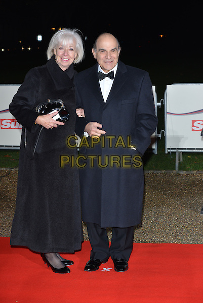 LONDON, ENGLAND - DECEMBER 10: David Suchet and wife Sheila Ferris attends A Night Of Heroes: The Sun Military Awards at National Maritime Museum on December 10, 2014 in London, England.<br /> CAP/PL<br /> &copy;Phil Loftus/Capital Pictures