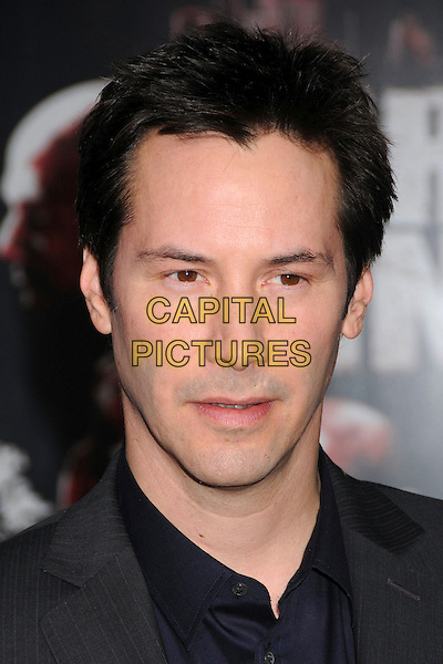 "KEANU REEVES .""Street Kings"" Los Angeles Premiere at Grauman's Chinese Theatre, Hollywood, California, USA, 03 April 2008 .portrait headshot navy blue collar .CAP/ADM/BP.©Byron Purvis/Admedia/Capital PIctures"