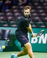 Rotterdam, The Netherlands, 12 Februari 2019, ABNAMRO World Tennis Tournament, Ahoy, first round singles: Ernests Gulbis (LAT),<br /> Photo: www.tennisimages.com/Henk Koster