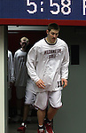 Aron Baynes, Washington State University senior center, emerges from the locker room during a game on November 21, 2008, in Pullman, Washington, against Sacramento State.  Baynes had 13 points and 6 rebounds in the game as the Cougs rolled to a 76-55 victory at Friel Court.