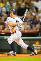 Shane Hoelscher #2 of the Rice Owls follows through on his swing against the Texas A&M Aggies at Minute Maid Park on March 5, 2011 in Houston, Texas.  Photo by Brian Westerholt / Four Seam Images