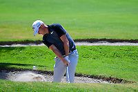 Alex Noren (SWE) hits from the trap on 1 during round 1 of the World Golf Championships, Mexico, Club De Golf Chapultepec, Mexico City, Mexico. 3/2/2017.<br /> Picture: Golffile | Ken Murray<br /> <br /> <br /> All photo usage must carry mandatory copyright credit (&copy; Golffile | Ken Murray)