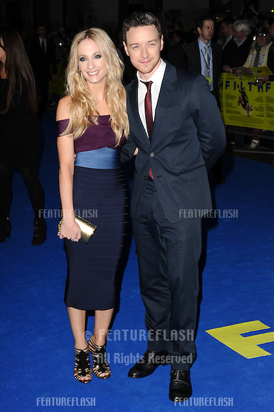 "Joanne Froggatt and James McAvoy arriving for the ""Filth"" premiere at the Odeon Leicester Square, London. 30/09/2013 Picture by: Steve Vas / Featureflash"