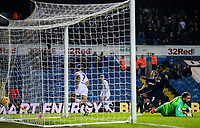 Leeds United's Kemar Roofe celebrates scoring the opening goal <br /> <br /> Photographer Alex Dodd/CameraSport<br /> <br /> The EFL Sky Bet Championship -  Leeds United v Derby County - Friday 11th January 2019 - Elland Road - Leeds<br /> <br /> World Copyright &copy; 2019 CameraSport. All rights reserved. 43 Linden Ave. Countesthorpe. Leicester. England. LE8 5PG - Tel: +44 (0) 116 277 4147 - admin@camerasport.com - www.camerasport.com