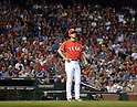 Yu Darvish (Rangers),<br /> MAY 16, 2014 - MLB :<br /> Yu Darvish of the Texas Rangers looks dejected during the Major League Baseball game against the Toronto Blue Jays at Globe Life Park in Arlington in Arlington, Texas, United States. (Photo by AFLO)