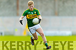 Donnachadh O'Sullivan Kerry in action against Clare in the Munster Minor Quarter Final at Austin Stack Park Tralee on Wednesday night.