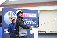 Tyrrell Hatton (ENG) during the Hero Pro-am at the Betfred British Masters, Hillside Golf Club, Lancashire, England. 08/05/2019.<br /> Picture Fran Caffrey / Golffile.ie<br /> <br /> All photo usage must carry mandatory copyright credit (&copy; Golffile | Fran Caffrey)